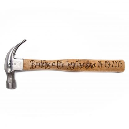 building a life together since date personalised anniversary hammer wht sq