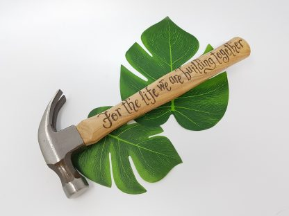 for the life we are building together personalised hammer christmas gift for husband