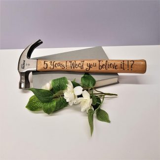 Personalised Hammer, Custom Gift Idea, 5th Anniversary Gift, Present for Husband, 5 Years, Wooden Anniversary, Custom Gift for Husband
