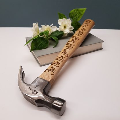 personalised hammer for the life you will build together