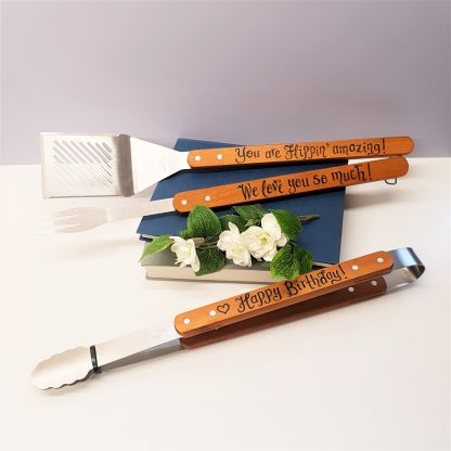personalised barbecue bbq tool set
