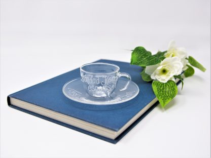 grandads personalised glass espresso cup and saucer prop 43