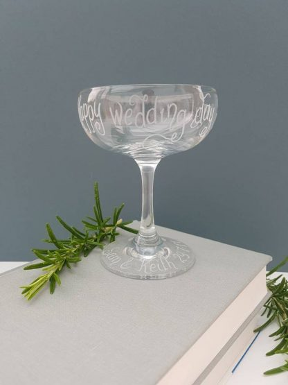 Personalised Champagne Glass, Custom Champagne Saucer, Birthday Gift, Wedding Gift Idea, Hen Night Gift, Vintage Coupe Glass, Babycham Glass