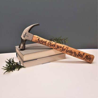 Personalised Hammers, Best Man Gifts, Hand Engraved Hammers, Etched Hammers, Gift for Best Man, Unique Gift Ideas, Thank you to our Best Man