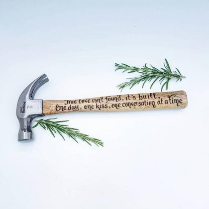 Personalised Hammer, Favourite Song Lyrics Gift, First Wedding Dance Song, Romantic Gift, Present for Husband, Fiance Gift, Groom Gift
