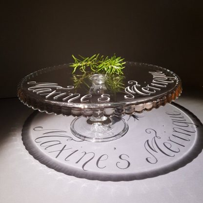 Personalised Cake Stand, Mothers Day Gift, Birthday Gift, Glass Pedestal Cakestand, Wedding Gift Idea, Bake Off Gift, Cupcakes, Showstopper