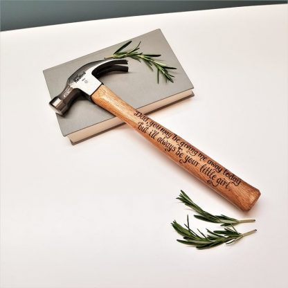Personalised Hammer, Custom Gift Idea, Father of the Bride, Gift from Bride, Daddy Gift, Wedding Day, Gift from Daughter, Present for Dad