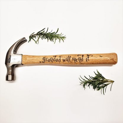 Personalised Hammer, Custom Gifts, Gift for Grandad, Grandad will mend it, Gift from Granddaughter, Gift for Grandpa, Present from Grandson
