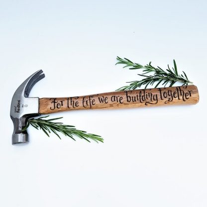 Personalised Hammer, 5th Anniversary, Gift for Husband, Engagement Gift, Wooden Anniversary, Custom Engraved DIY Tool, Birthday Gift for him