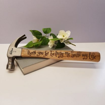 Personalised Hammer, Thank You Present, Hand Engraved Hammer, Unusual Gift for Him, Handmade Tool Gift, Gift from Daughter, Gift from Wife