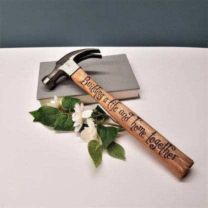 Personalised Hammer, Custom Engraved Hammer, 5th Anniversary Present, Gift for Husband, 5 Years, Wooden Anniversary, New Home Gift from Wife