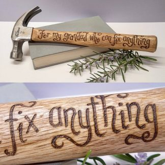 Personalised Hammer, Custom Gift Idea, Grandad Hammer, Birthday Gift, Gift for Grandfather, Retirement gift, Grandpappy, Grampy, Grandchild