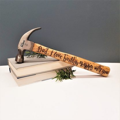 Personalised Hammer, Fathers Day Gift, Present for Daddy, Custom DIY Tool, Gift from Son or Daughter, Birthday Gift for Dad, Carpenter Gift