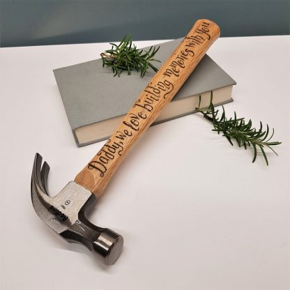 Personalised Hammer, Fathers Day Gift, Present for Daddy, Custom DIY Tool, Gift from Son and Daughter, Birthday Gift for Dad, Carpenter Gift