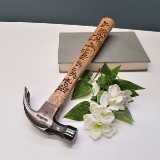 Personalised Hammer, Thank You Present, Gift for Daddy, Custom Engraved Hammer, Father of the Bride, Father of the Groom