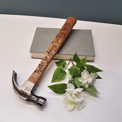 Personalised Hammer, Thank You Present, Gift for Daddy, Fathers Day Gift, Custom Engraved Hammer, Father of the Bride, Father of the Groom