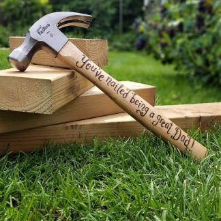 Personalised Hammer, Unique Gift for Him Gift, Daddy Birthday Present, Father of the Bride Gift, Present from Daughter, Unusual Dad Gift