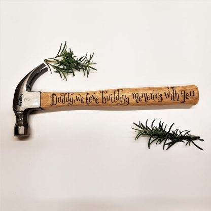 personalised hammer for daddy on fathers day we love building memories with you