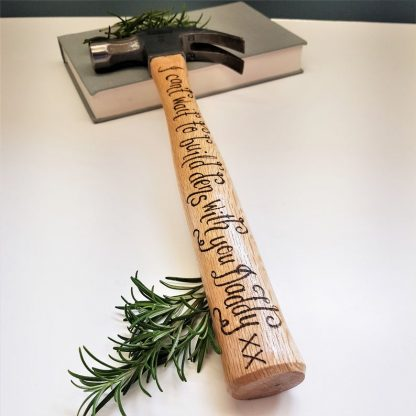 Personalised Hammer, Present for Daddy, Custom DIY Tool, Gift from Son and Daughter, Birthday Gift for Dad, Carpenter Gift