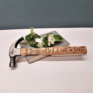 Personalised Hammer, Gift for Grandad, Present for Gramps, Custom DIY Tool, Gift from Grandson or Granddaughter, Grandfather Hammer Gift