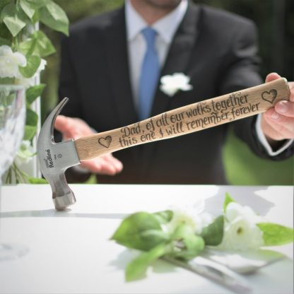 Personalised Hammer, Gift from Bride, Father of the Bride, Walk down the Aisle, Wedding Thank You, Daddy Thanks, Gift from Daughter to Dad