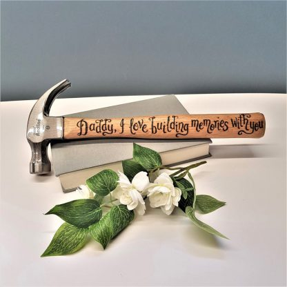 Personalised Hammer, Custom Gift for Him Gift, Unique Present for Daddy, Handmade Custom Tool, Gift from Child, Unusual Present for Dad