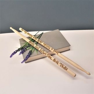 Personalised Drumsticks, Custom Musician Gift, Drummer Present, Gift for Him Gift, Husband Birthday Gift, Wooden Anniversary, Percussionist
