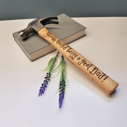 personalised fathers day hammer 'you have nailed being a great dad'
