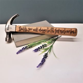 Personalised Hammer, Father of the Bride Present, Thank You Gift for Dad, Gift from Daughter, Wedding Day Gift, Unique Engraved Tool for Dad