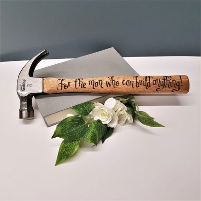 Personalised Hammer, Hand Engraved Hammer, Gift for Boyfriend, Present from Girlfriend, Custom DIY Tool, Carpenters Hammer, Gift for Fiance