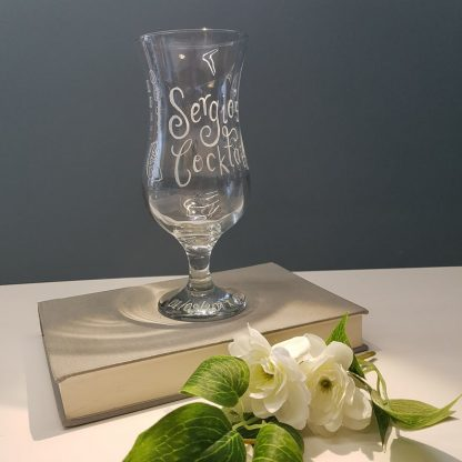 Personalised Cocktail Glasses, Custom Pina Colada Glass, Mocktail Glass, Cocktail Party Gifts, Unique Gift Ideas, Hen Party Glass