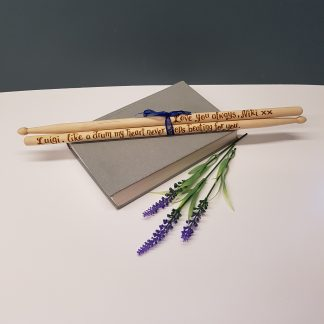 like a drum my heart never stops beating for you personalised drumsticks gift4