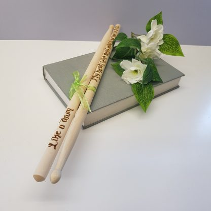 like a drum my heart never stops beating for you personalised drumsticks gift47