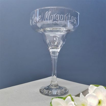 personalised margarita glass hand engraved with any message