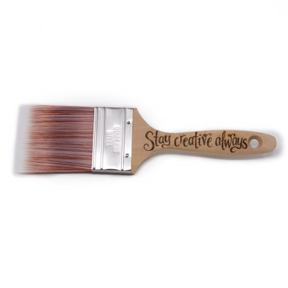 stay creative always personalised wooden paint brush wht sq
