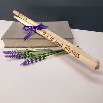 stick to your dreams personalised wooden drumsticks35