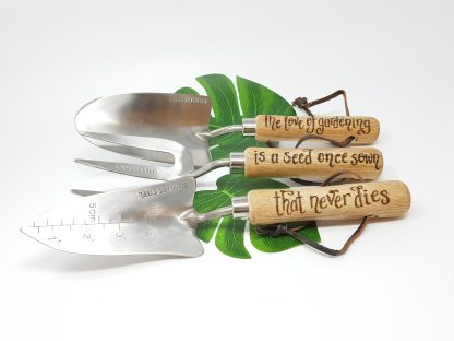 the love of gardening is a seed once sown that never dies set of 3 tools2