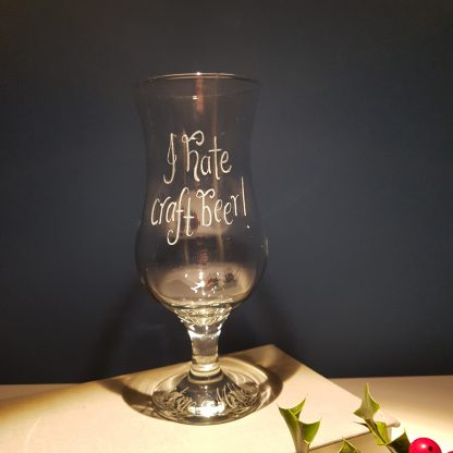 stemmed pilsner glass hand engraved with any message12
