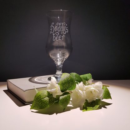 stemmed pilsner glass hand engraved with any message13