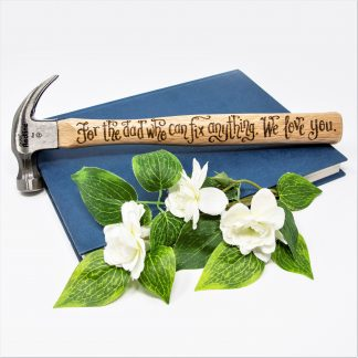 for the dad who can fix anything we love you small 8oz hammer personalised sq prop