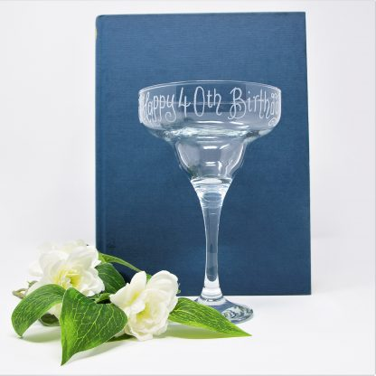 personalised margarita glass 40th birthday sq prop