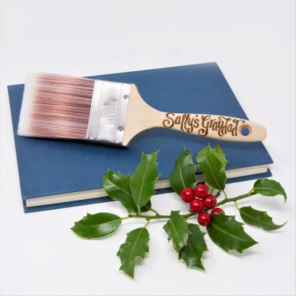 personalised paint brush gift with wooden handle sq xmas