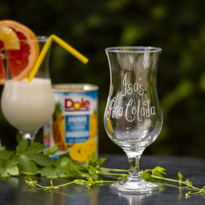 personalised pina colada glass lifestyle shot