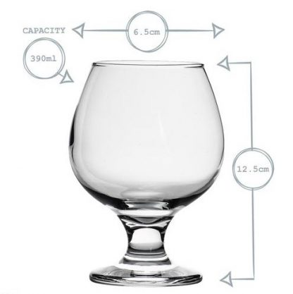 brandy glass size and capacity