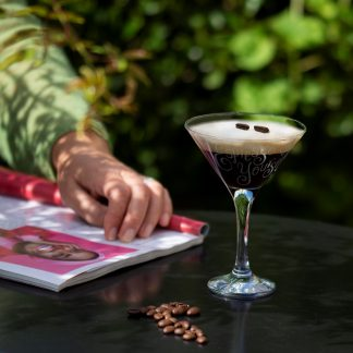 personalised espresso martini cocktail glass