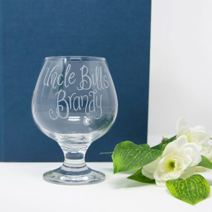 personalised brandy glass propp sq