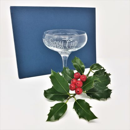 personalised champagne coupe glass1