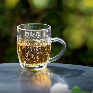 personalised dimple beer mug for page boy gift life sq
