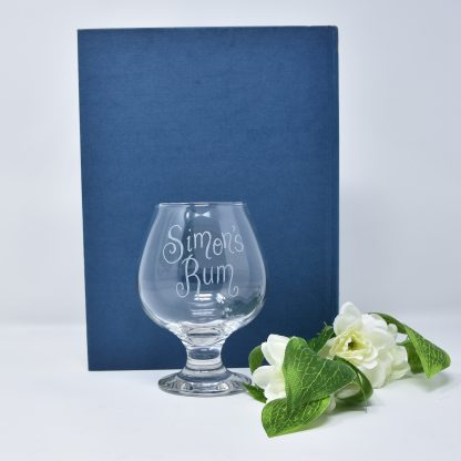 personalised rum glass gift 43 sq prop