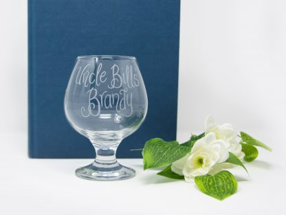 uncle bills brandy personalised snifter glass1
